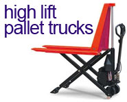 View our range of High Lift Pallet Trucks Generators from £395.99