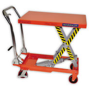 Warrior Manual Mobile Scissor Lift Table