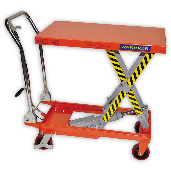 Warrior Manual Mobile Scissor Lift Table | Pallet Truck Store